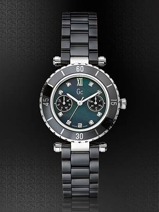 Gc Swiss Watches - Gc DIVER CHIC Diamond Dial Black Ceramic Timepiece