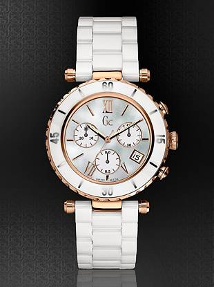 Gc Swiss Watches - Gc DIVER CHIC White Ceramic Chronograph Timepiece