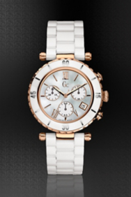 Gc DIVER CHIC White Ceramic Chronograph Timepiece