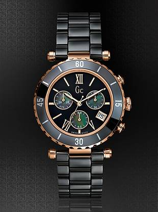 Gc Swiss Watches - Gc Diver Chic Black Ceramic Chronograph Timepiece