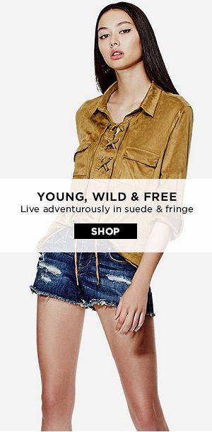 shop suede & fringe