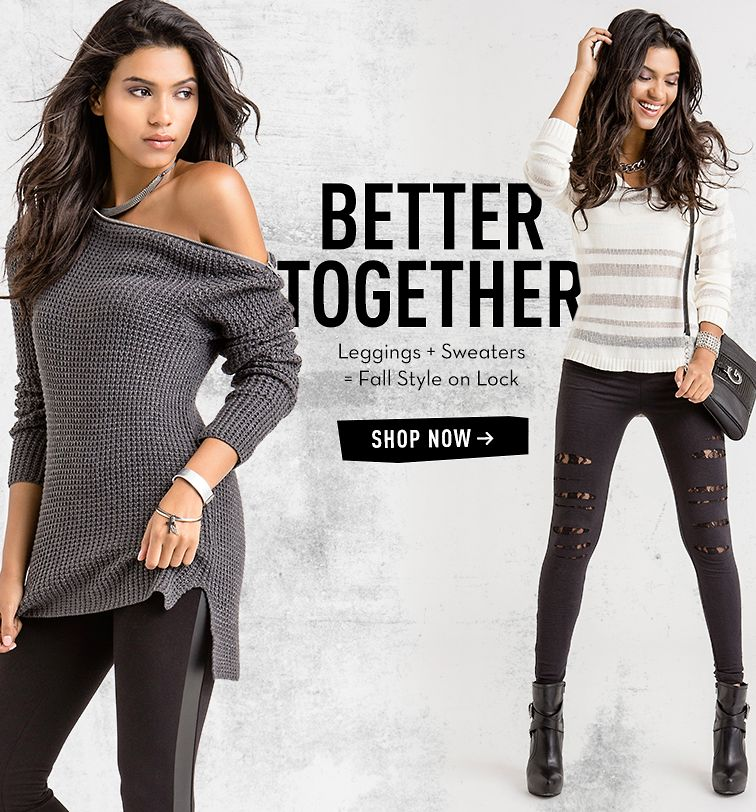 BETTER TOGETHER - LEGGINGS + SWEATERS = FALL STYLE ON LOCK