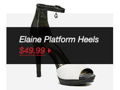 ELAINE PLATFORM HEELS