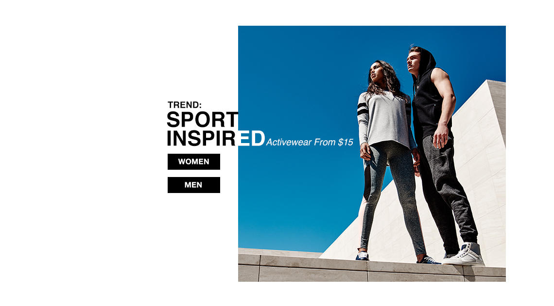 ACTIVEWEAR FROM $15