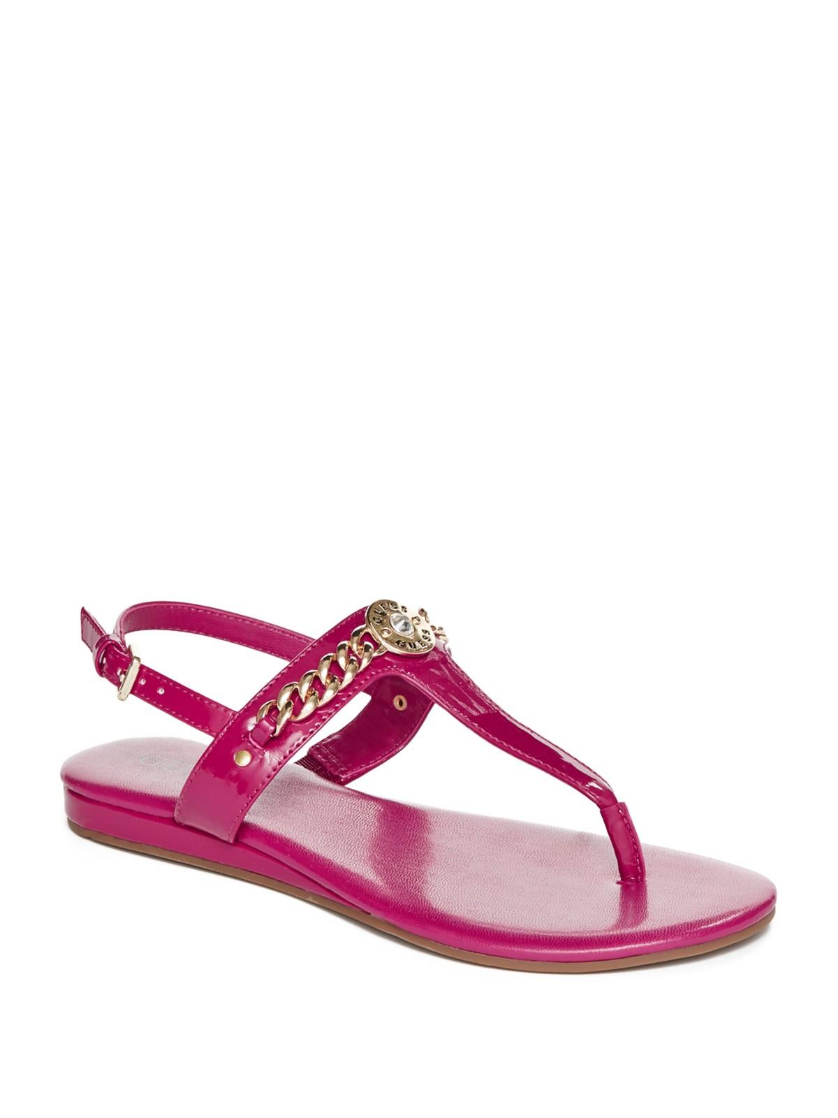 Fantastic Guess Women39S Wiliane Platform Wedge Sandals In Gold Black  Lyst