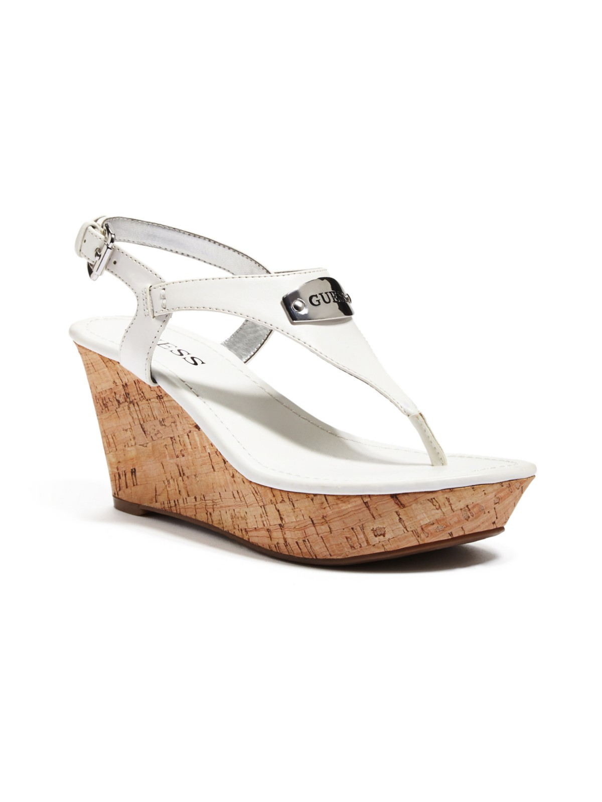 guess page wedge sandals ebay
