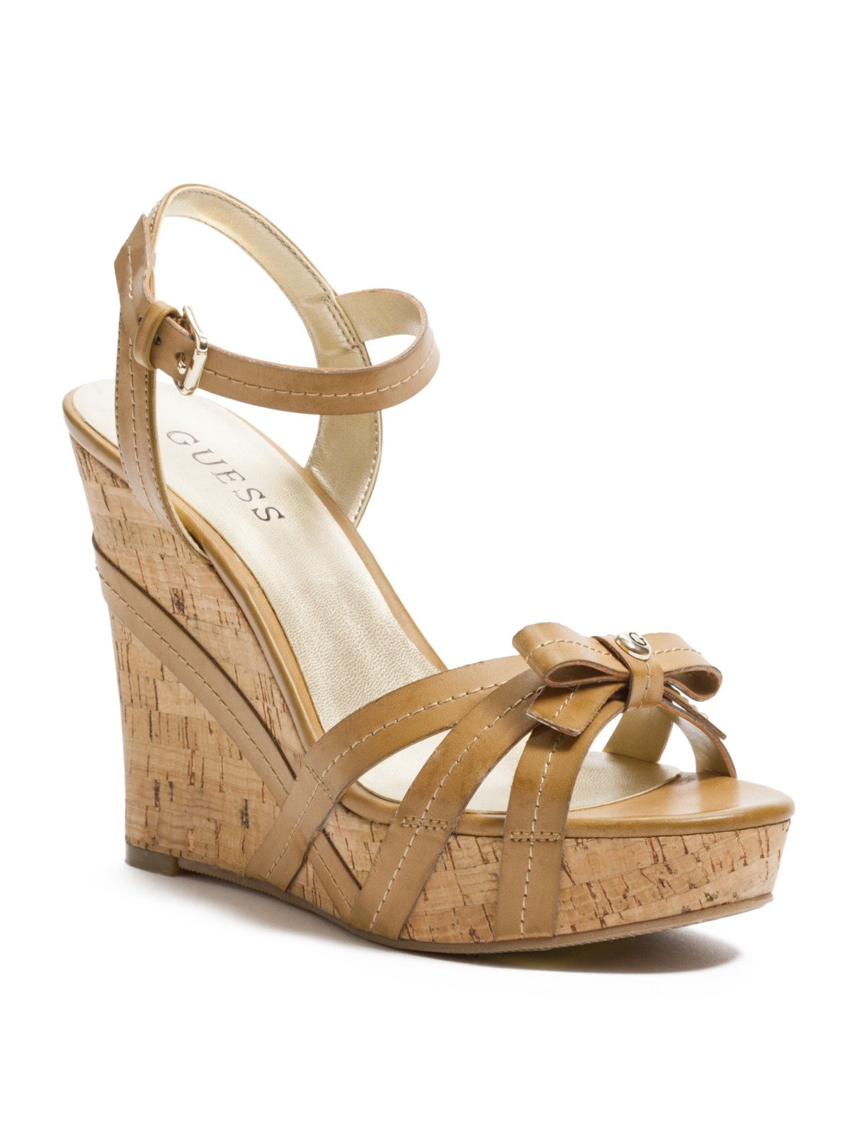 guess topsy open toe wedge sandals ebay