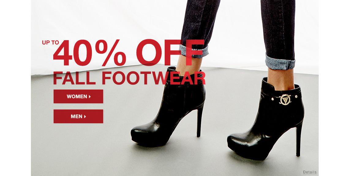 30% OFF Fall Footwear