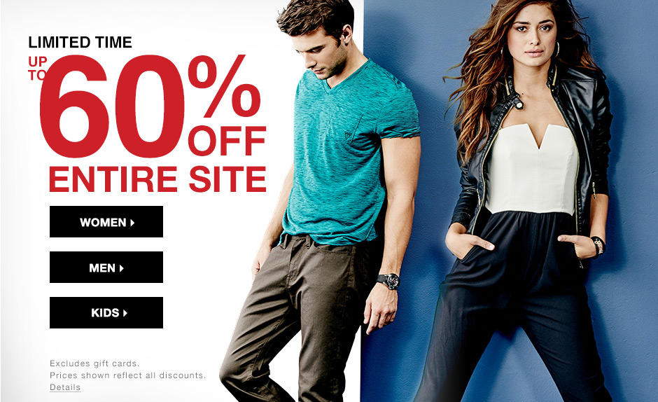 Up to 60% OFF the entrie site