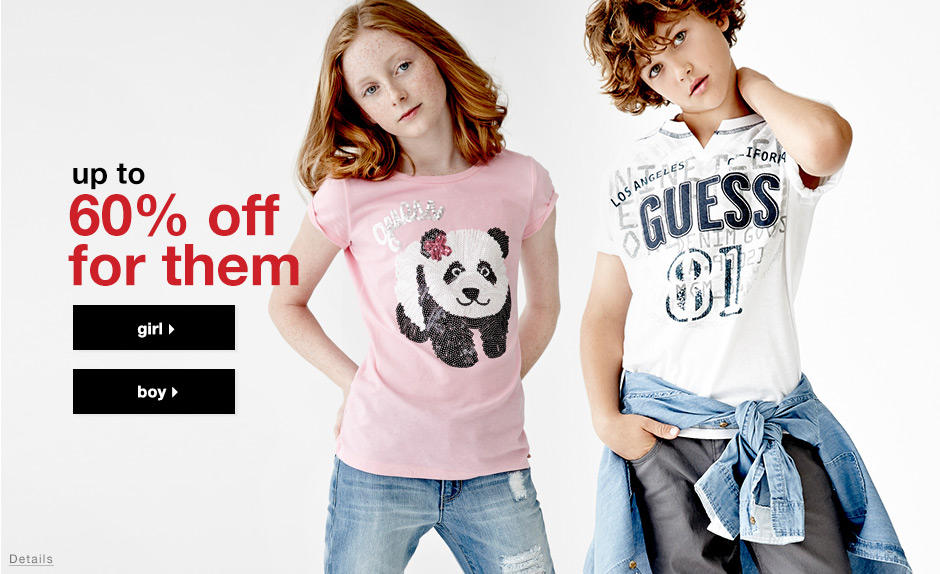 Up to 60% OFF Kids