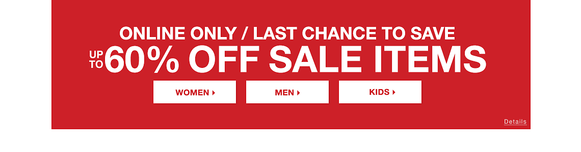 Online Only up to 60% OFF Sale