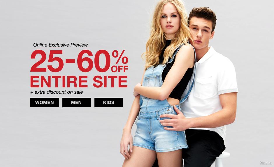 Shop 25-60% OFF