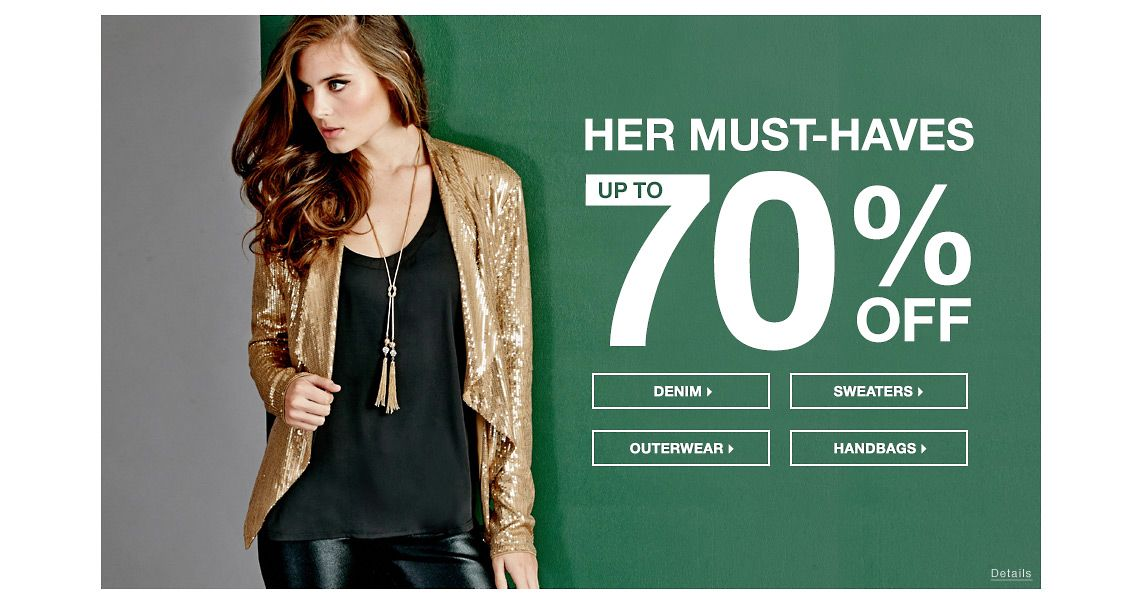 Up To 70% Off Her Must-Haves