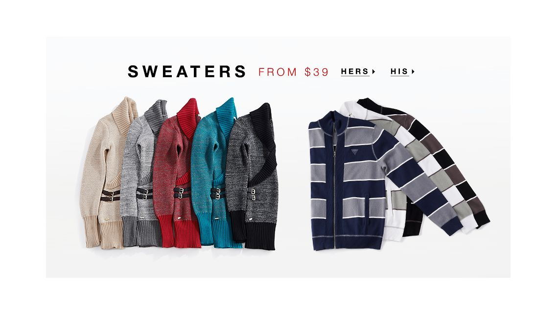 SWEATERS FROM $39