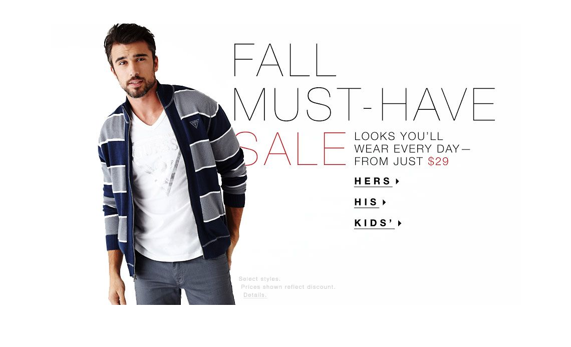 FALL MUST-HAVE SALE