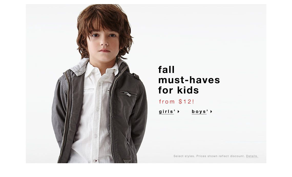 Fall must-haves for kids from $12