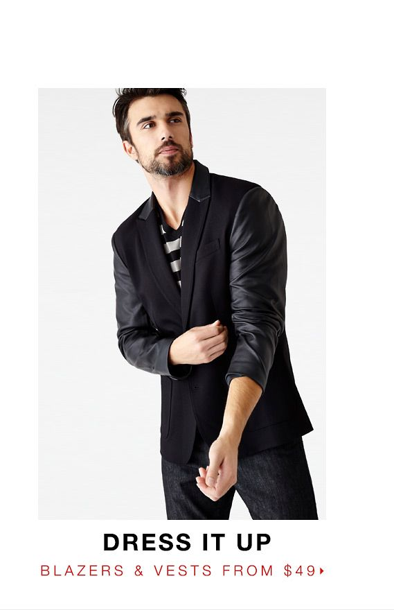 Dress it up - Blazers & Vests from $34