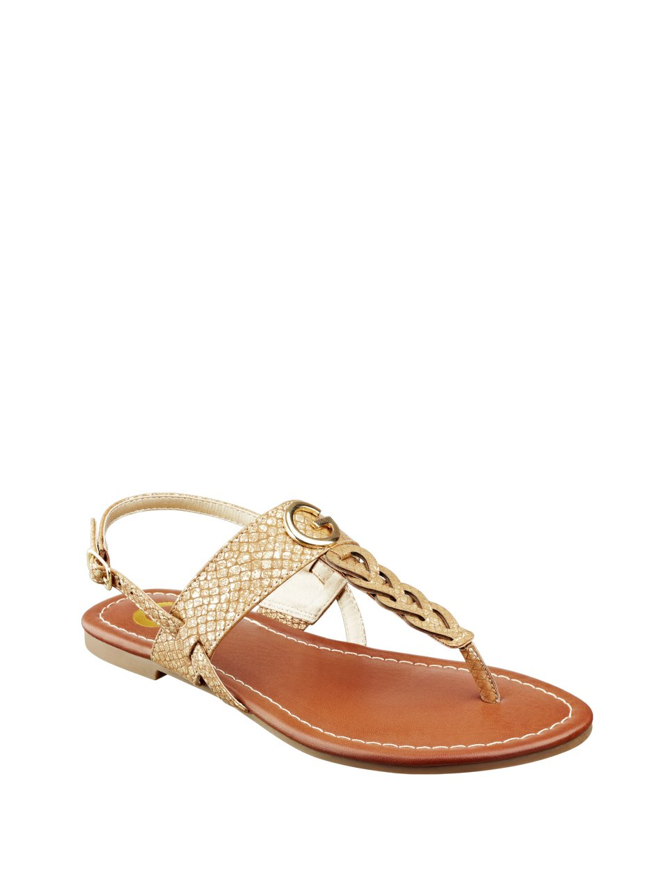 Model By Guess Womens Keeper Flat Sandals In Metallic  Lyst