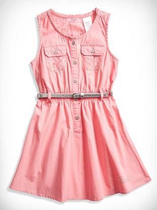 Guesskids Little Girl Lace-Trim Dress (2-6x)