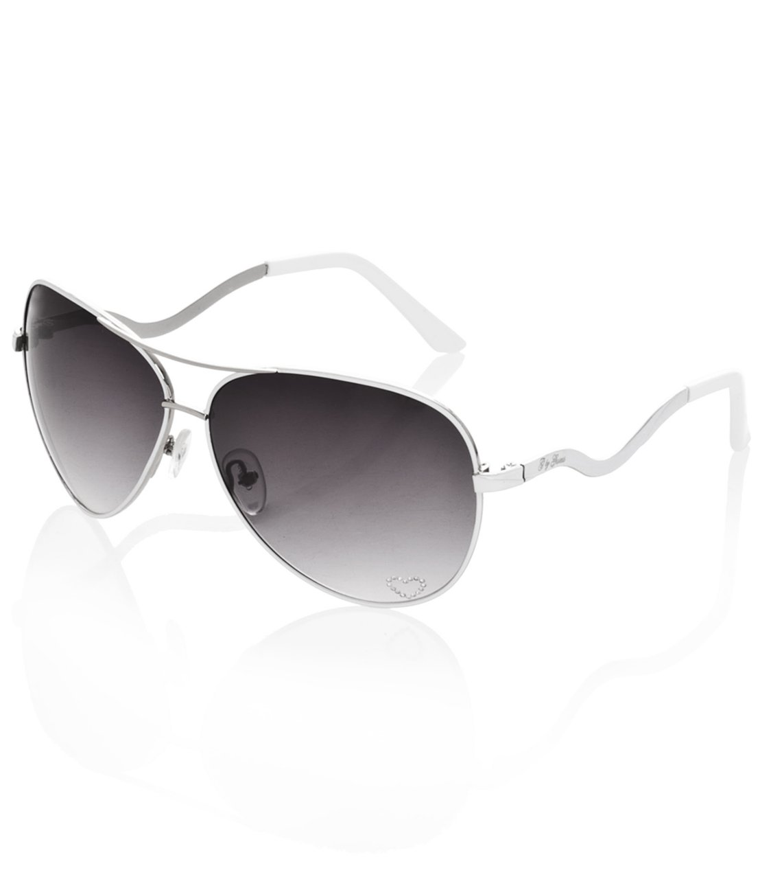 G by GUESS Aviator Sunglasses, WHITE