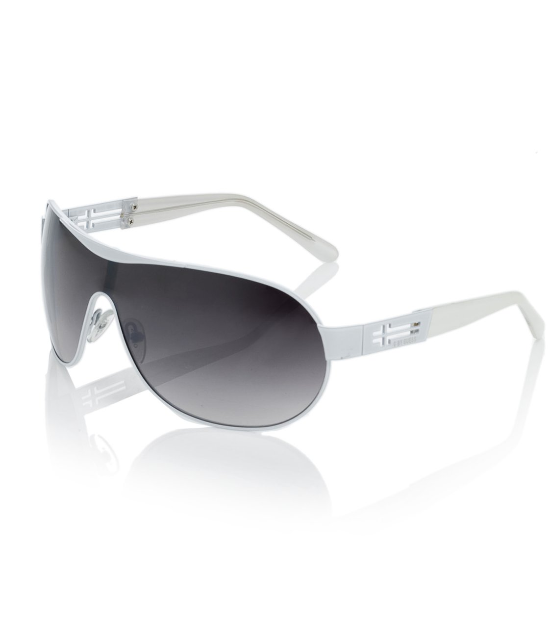 G by GUESS Rimless and Metal Shield Sunglasses, WHITE