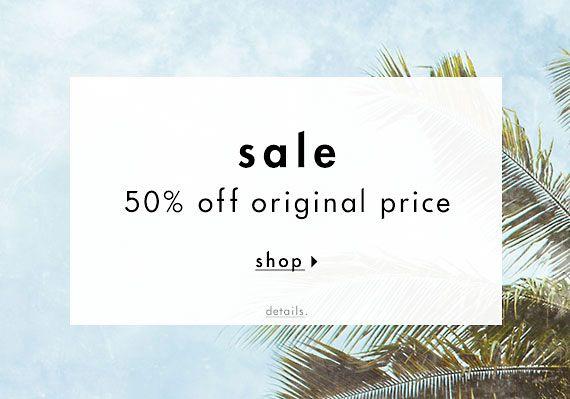 50% off original price