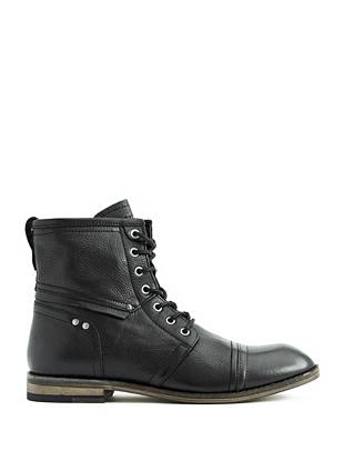 Smooth genuine leather and a modern high-top design make these boots perfect for dressing up or down.