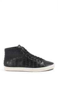 Opal Crocodile-Embossed High-Top Sneakers
