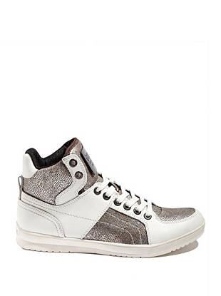 Trippy High-Top Python-Print Sneakers