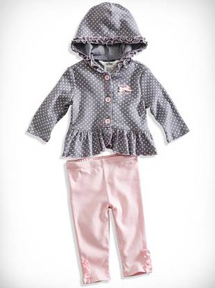 Newborn Girl Ruffle Hoodie and Leggings Set (0-9M)