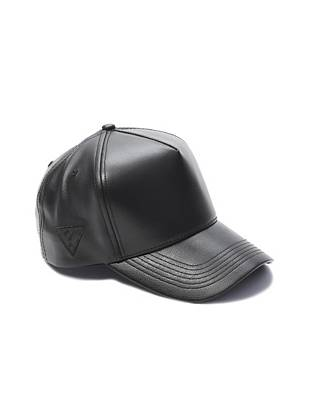 A modern take on your favorite baseball cap, this faux-leather style brings most-wanted edge to your laid-back looks.