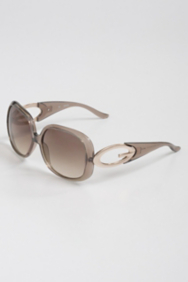 "Alisa Shiny Metal ""G"" Plaque Sunglasses"