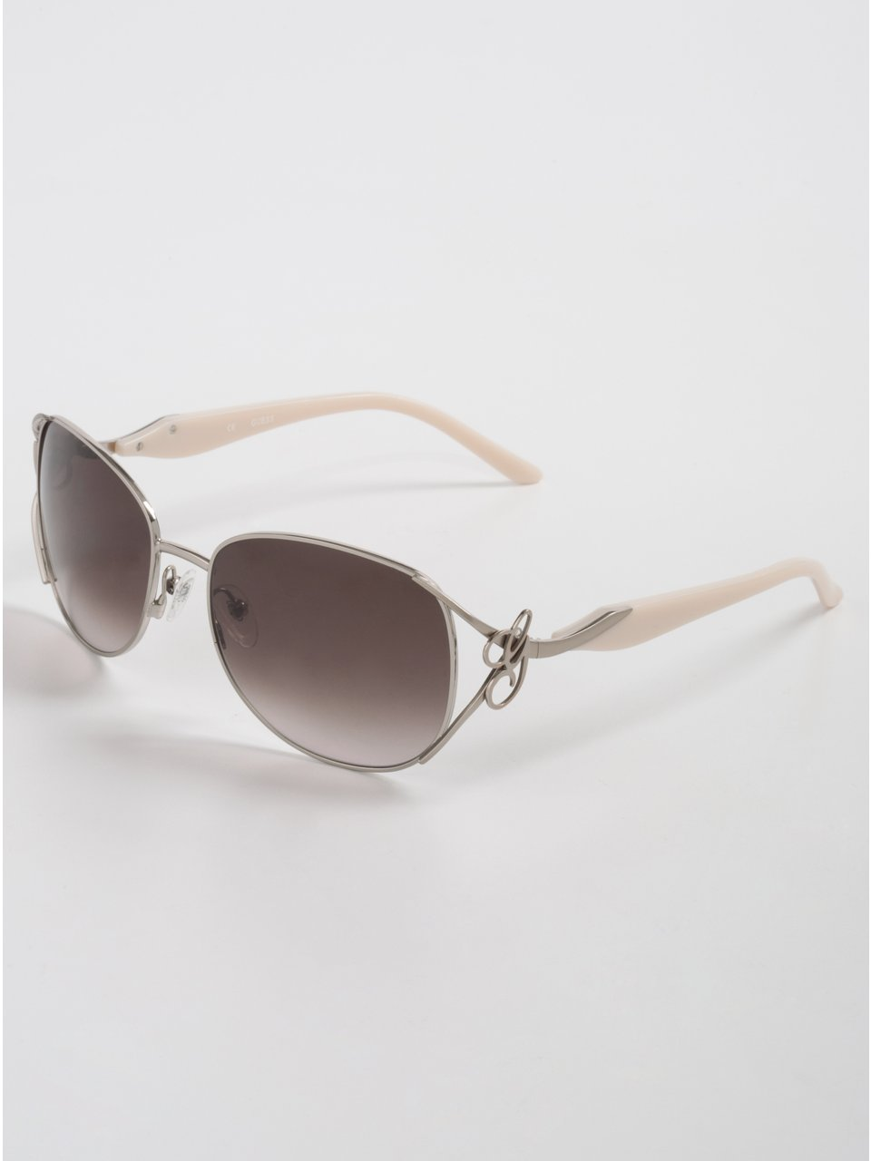 GUESS Faith Metal Frame Sunglasses, ROSE GOLD