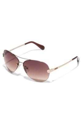 Rimless Aviator Sunglasses : GUESS Womens Rimless Aviator Sunglasses eBay