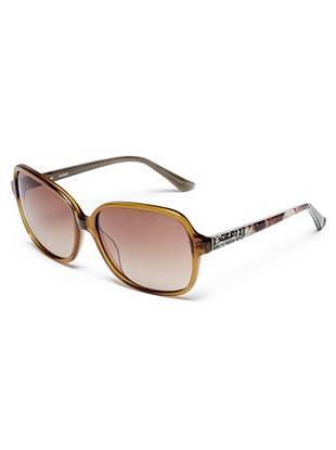 Leigh Square Printed Sunglasses