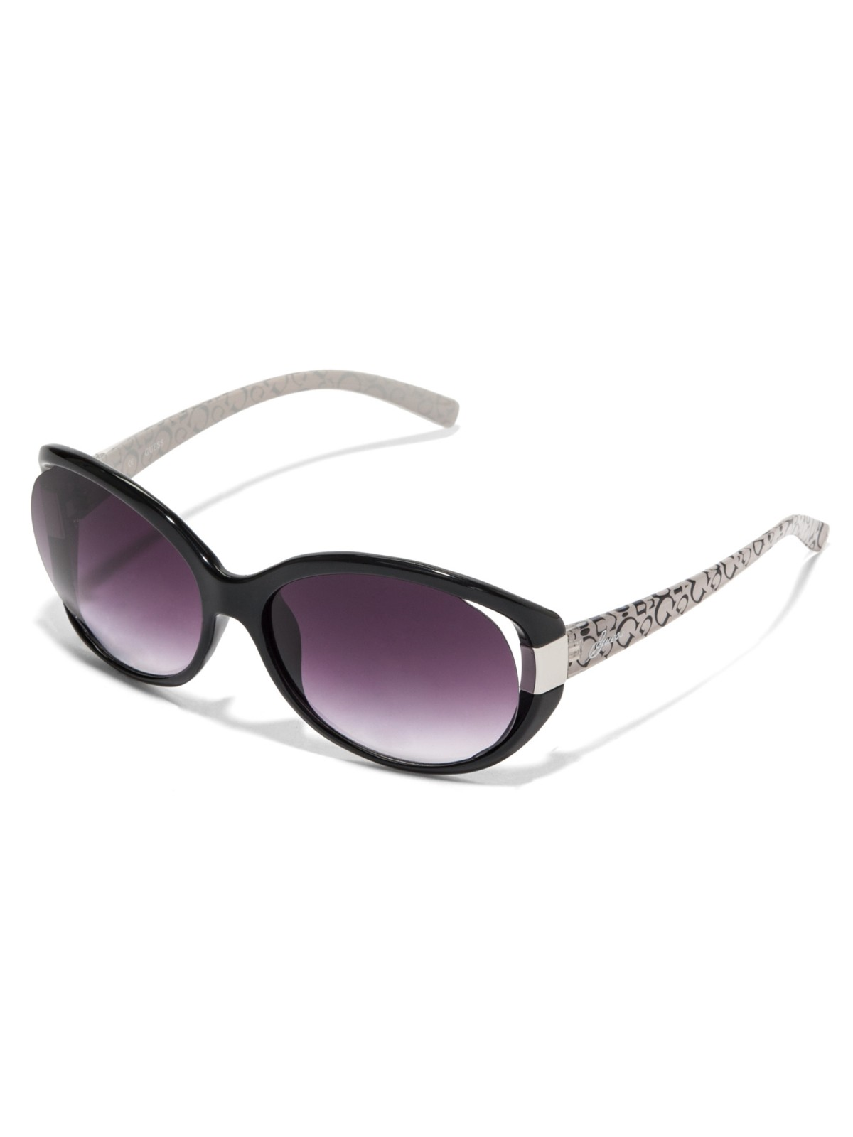 guess plastic oval logo sunglasses