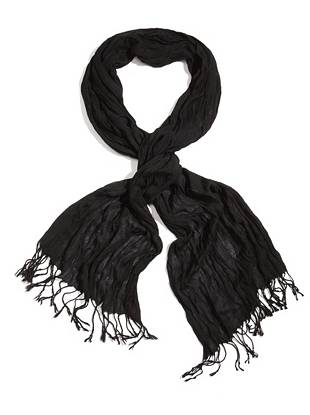 Distinctive woven details and frayed edges make this scarf a need-now accent for every guy. Wear it over your favorite tee in the summer, or pair it with a sweater in the cooler months for laid-back appeal year 'round.