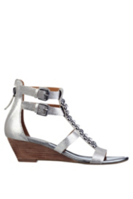 Aliano Metallic Wedge Sandals