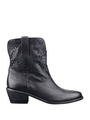 Every girl needs a cowboy boot in her closet, and this pair is one worth investing in. A perforated design and season-ready colors make them a treasure-forever style you'll wear year after year.