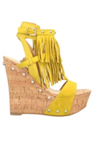 Meekah Fringed Wedge Sandals