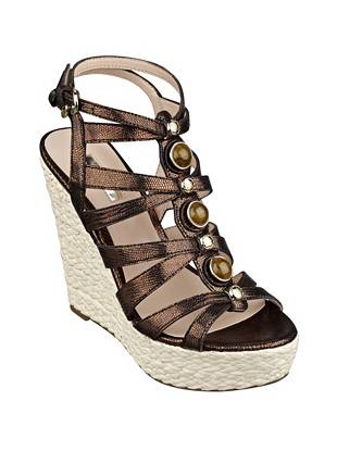Onixx Metallic Caged Wedges