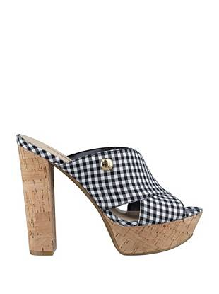Patrien Gingham-Print Slides
