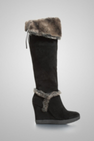 Shanay Wedge Boot with Faux Fur