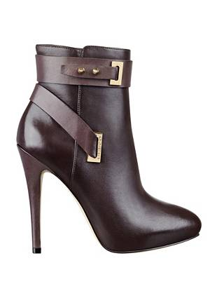 Suede Ankle Boots - Shanda Wrap Booties