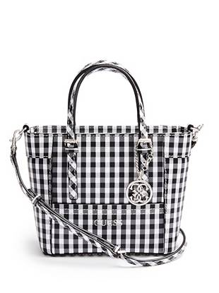 Delaney Gingham Mini Tote