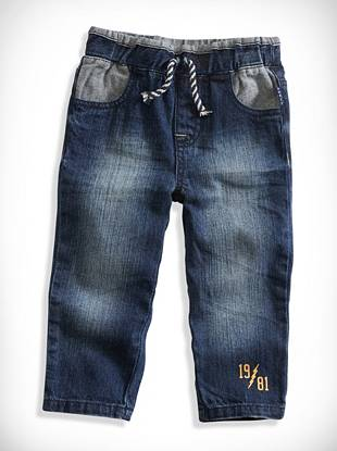 Baby Boy Pieced Slim Jeans (12-24M)