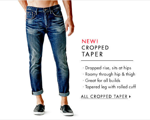 Men's Cropped Taper Denim