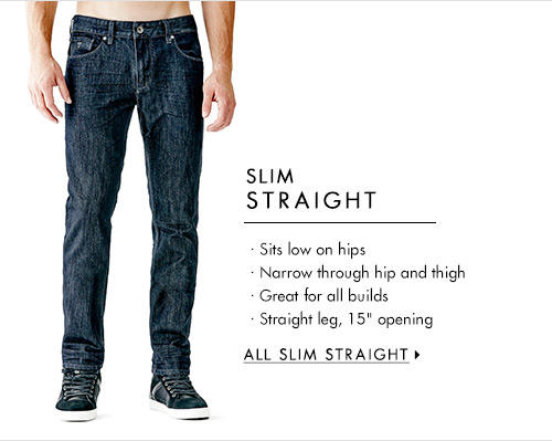 Men's Slim Straight Denim