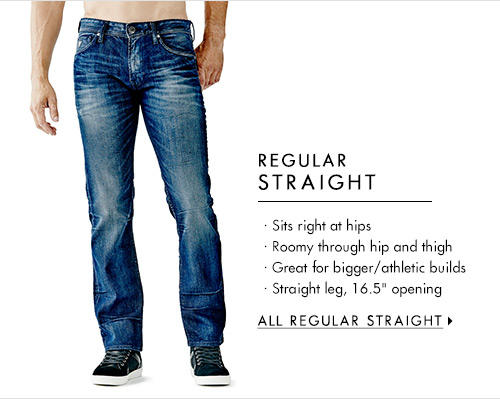 Men's Regular Straight Denim