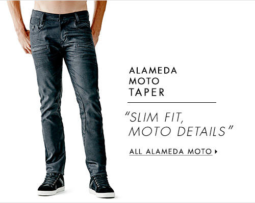 Men's Alameda Moto Taper Denim